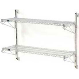 Wall Mount Adjustable Wire Shelving Units-Two Shelf 34