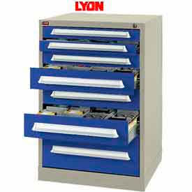 Lyon Modular Storage Drawer Cabinet PBS68303010110 Full Height, Putty/Blue- Pkg Qty 1
