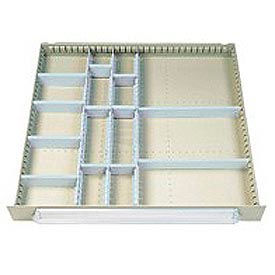 Lyon Modular Drawer Unit Divider Kit NF240P100 - 16 Compartment- Pkg Qty 1