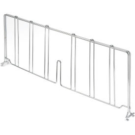 "Nexel® AD821C Chrome Divider 21""D x 8""H for Wire Shelves"