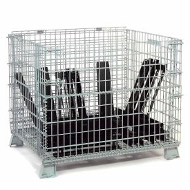"""Folding Wire Container 32""""L x 20""""W x 21""""H 1000 Lb. Capacity"""