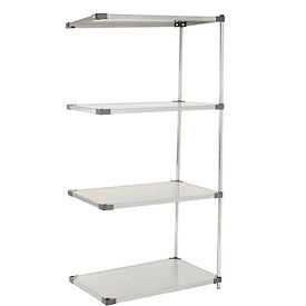 36x18x86 Stainless Steel Solid Shelving Add-On
