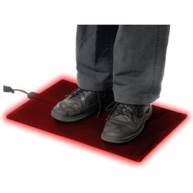 """Cozy Products Foot Warmer™ Heated Floor Mat 1/4"""" Thick 2' X 1' Black"""