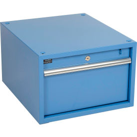 """Global Industrial™ Stacking Workbench Drawer 17-1/4""""W x 20""""D x 12""""H - Blue"""
