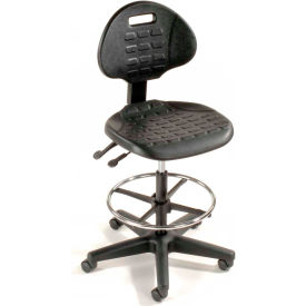 Interion® Ergonomic Stool - Polyuréthane - 5 Way Adjustment - Noir