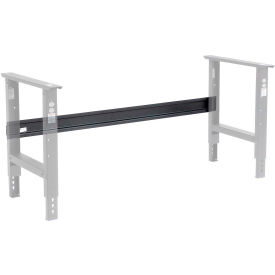 """Global Industrial™ Workbench Stringer pour 48""""W C-Channel Leg Ajustable - Fixed Height - Noir"""