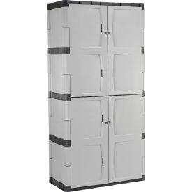 Armoire de rangement Rubbermaid7083, plastique, porte double pleine,36 po l x18 po P x72 po H