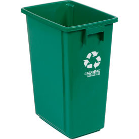 "Global Industrial™ Recycling Container - Green 15 Gallon 12""W X 18""D X 24""H"