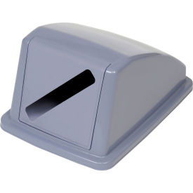 """Global Industrial™ Recycling Paper Lid - Gray 13""""W x 18""""D x 9""""H"""