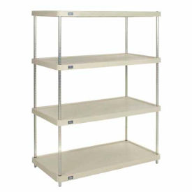 "Plastic Shelving Unit 36""Wx18""Dx63""H Solid Shelf"