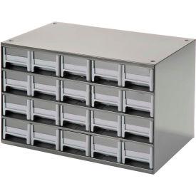 "Akro-Mils Steel Small Parts Storage Cabinet 19320 - 17""W x 11""D x 11""H w/ 20 Gray Drawers"