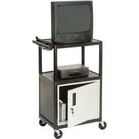 Plastic Security Audio Visual & Instrument Cart 24 X 18 X 34 Single Door