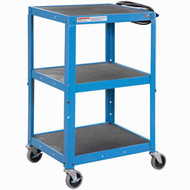 Global Industrial Steel Audio Visual & Instrument Cart - Blue