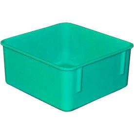 "Molded Fiberglass Toteline Nesting Tote 923108 - 9-3/4""L x 9-1/4""W x 4-1/2""H, Green"