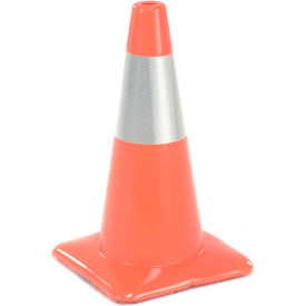"18"" Traffic Cone, Reflective, Orange, 3 lbs, 1850-M"