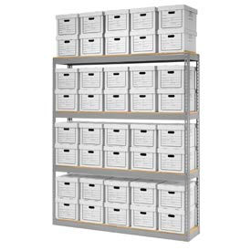 """Record Storage Open With Boxes 72""""W x 15""""D x 84""""H"""