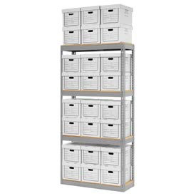 """Record Storage Open With Boxes 42""""W x 15""""D x 84""""H"""