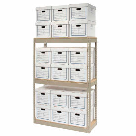 """Record Storage Open With Boxes 42""""W x 15""""D x 60""""H"""