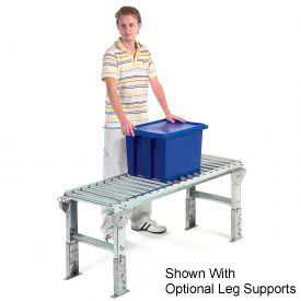 "Omni Metalcraft 1-3/8"" Dia. Aluminum Roller Conveyor Straight Section RAHS1.4-12-1.5-10"