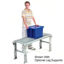 "Omni Metalcraft 1-3/8"" Dia. Aluminum Roller Conveyor Straight Section RAHS1.4-18-1.5-10"