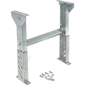 """Omni Metalcraft 1-3/8"""" Roller & Skate Wheel Conveyor Leg Support 12""""W I.D. with 14"""" to 20""""H- Pkg Qty 1"""