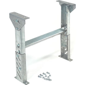 """Omni Metalcraft 2.5"""" Roller Conveyor Leg Support 12""""W I.D. with 14"""" to 20""""H- Pkg Qty 1"""