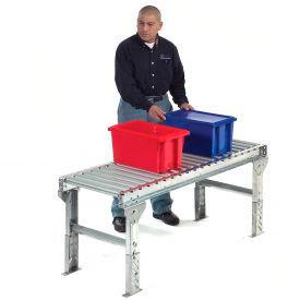 "Omni Metalcraft 1.9"" Dia. Steel Roller Conveyor Straight Section GPHS1.9X16-12-4.5-10LL"