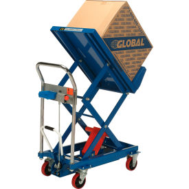 Best Value Mobile Lift & Tilt Scissor Lift Table 400 Lb. Capacity - 29 x 19 Platform