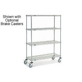 Nexelate Wire Shelf Truck 48 x 24 x 69 1200 Pound Capacity