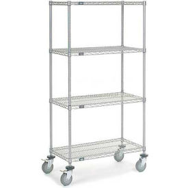 Nexelate Wire Shelf Truck 36x18x80 1200 Pound Capacity