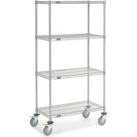 Nexel® Chrome Wire Shelf Truck 36x18x69 1200 Pound Capacity