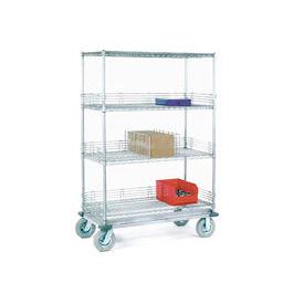 Nexel® Chrome Wire Shelf Truck 60x18x72 1200 Pound Capacity