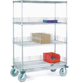 Nexel® Chrome Wire Shelf Truck 60x24x83 1200 Pound Capacity