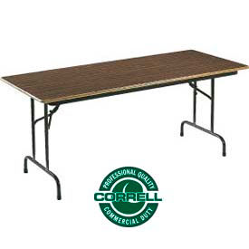 "Correll Folding Table - Laminate - 30"" X 72"" - Walnut"