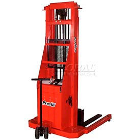 PrestoLifts™ Battery Power Lift Straddle Stacker PS274 Fixed Legs 2000 Lb.