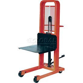 PrestoLifts™ Hydraulic Stacker Lift Truck M166 1000 Lb. with Platform