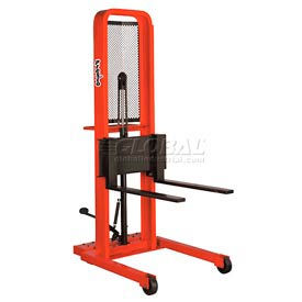 PrestoLifts™ Hydraulic Stacker Lift Truck M252 1000 Lb. with Adj. Forks