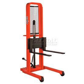 PrestoLifts™ Hydraulic Stacker Lift Truck M266 1000 Lb. with Adj. Forks