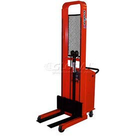 "PrestoLifts™ Pacemaker Battery Powered Lift Stacker B652 1000 Lb. Adjustable 25"" Forks"