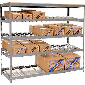 "Carton Flow Shelving Single Depth 4 LEVEL 96""W x 36""D x 84""H"