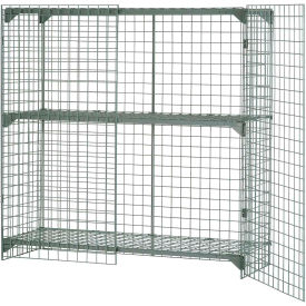 Wire Mesh Security Cage - Ventilated Locker -  60 x 36 x 60