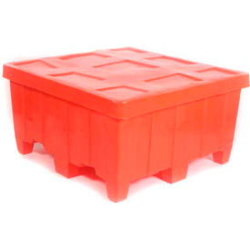"""Myton Forkliftable Bulk Shipping Container MTG-2 with Lid - 44""""L x 44""""W x 23""""H, Red"""