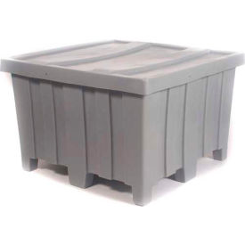 """Myton Forkliftable Bulk Shipping Container MTD-2 with Lid - 44""""L x 44""""W x 29-1/2""""H, Blue- Pkg Qty 1"""