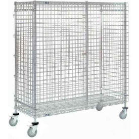 Nexel® Wire Security Storage Truck 48 x 24 x 69 with Brakes 1200 Lb. Cap.