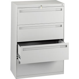 "Deluxe Fixed Front Lateral File Cabinet 36""W X 52""H - Putty"