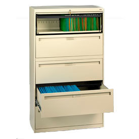 "Deluxe Fixed Front Lateral File Cabinet 36""W X 65""H - Putty"