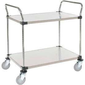 Nexel® Stainless Steel Utility Cart 2 Shelves 36x24