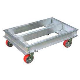 """Vestil Aluminum Caster Dolly ACP-2442-20 42""""L x 24""""W 2000 Lb. Capacity"""