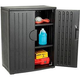 Plastic Storage Cabinet 36x22x46 - Black- Pkg Qty 1