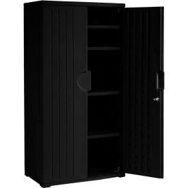 Plastic Storage Cabinet 36x22x72 - Black
